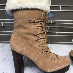 Calvin Klein suede W/ faux fur Boot  size 9M